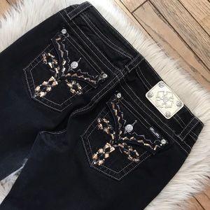Miss Me Black Signature Skinny Jeans